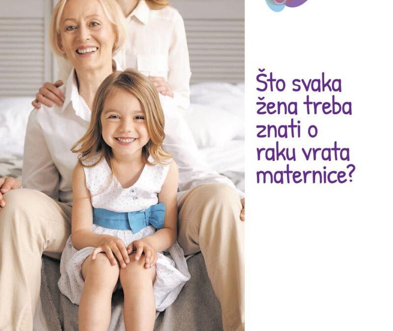 """Pročitajte brošuru Ministarstva zdravstva i HZJZ-a: """"Što svaka žena treba znati o raku vrata maternice?"""""""