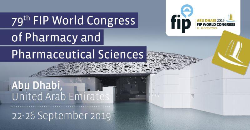 79. FIP Svjetski kongres farmacije i farmaceutskih znanosti, Abu Dabi, 22. – 26. rujna 2019