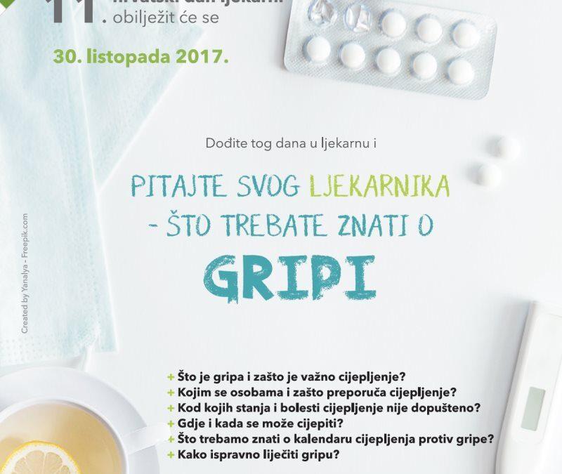11. hrvatski dan ljekarni (2017.)- GRIPA I CIJEPLJENJE