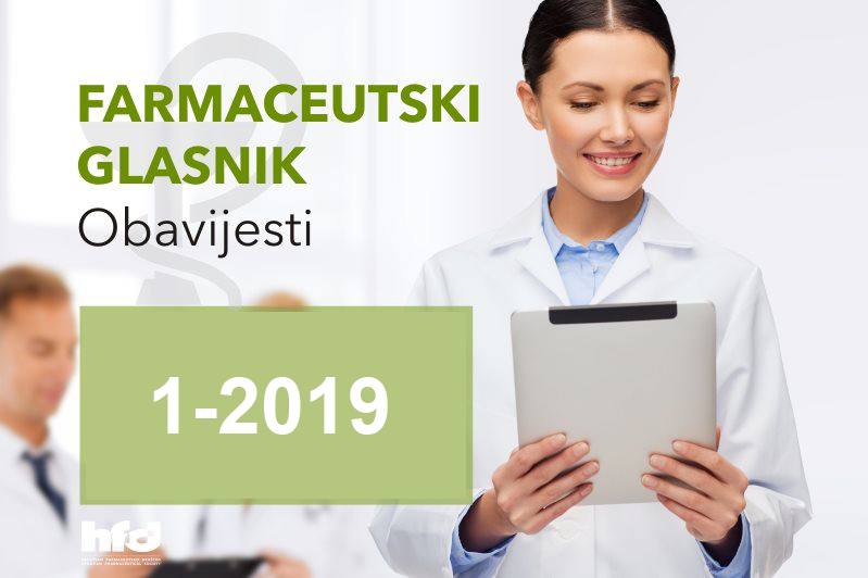 Farmaceutski glasnik – OBAVIJESTI 1/2019