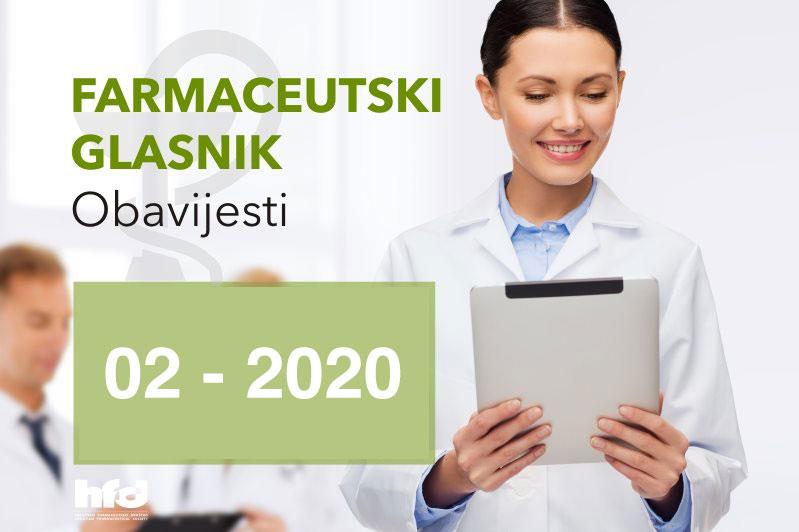 Farmaceutski glasnik – OBAVIJESTI 02-2020