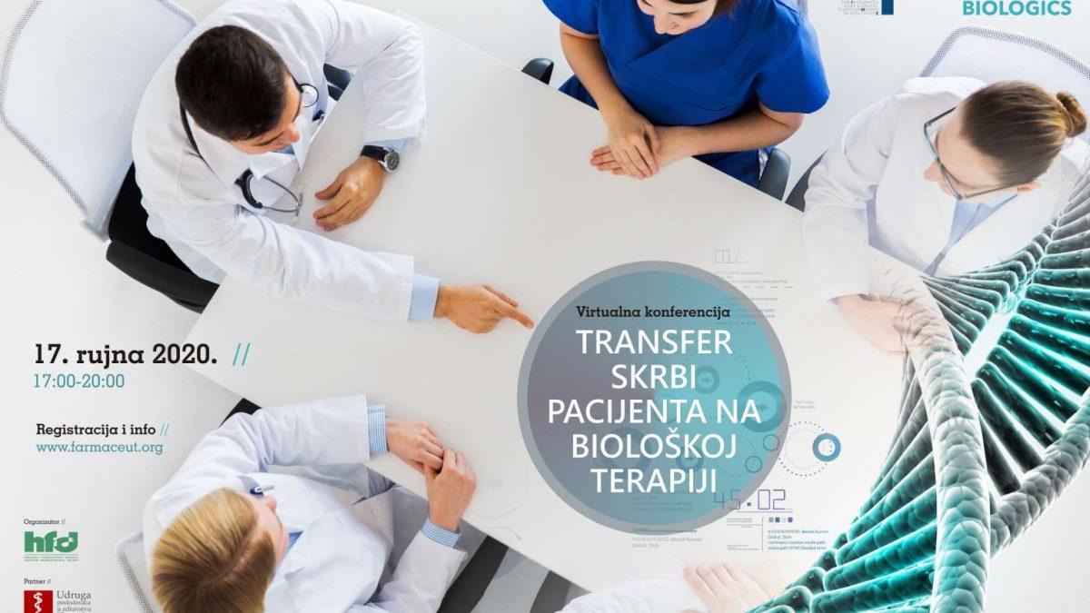 """Snimka virtualne konferencije """"Transfer skrbi pacijenta na biološkoj terapiji"""""""