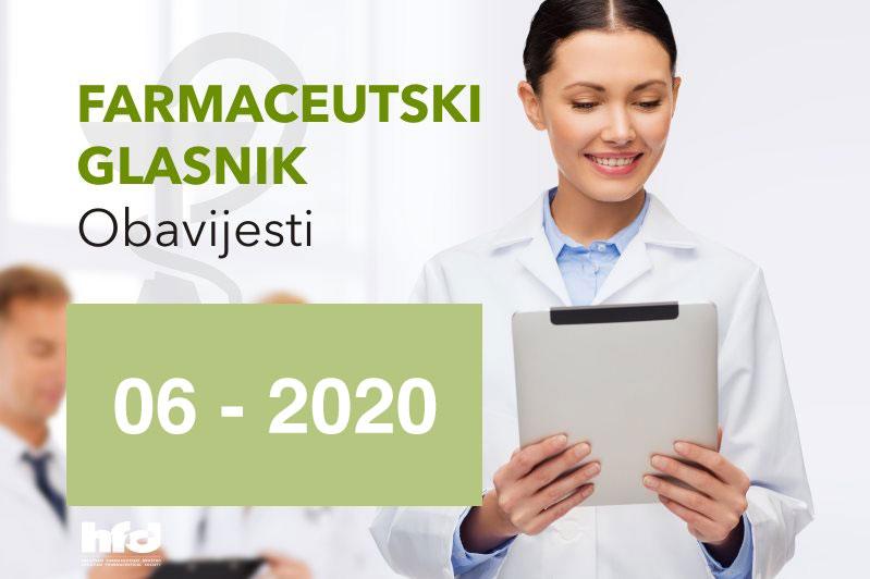 Farmaceutski glasnik – OBAVIJESTI 06-2020