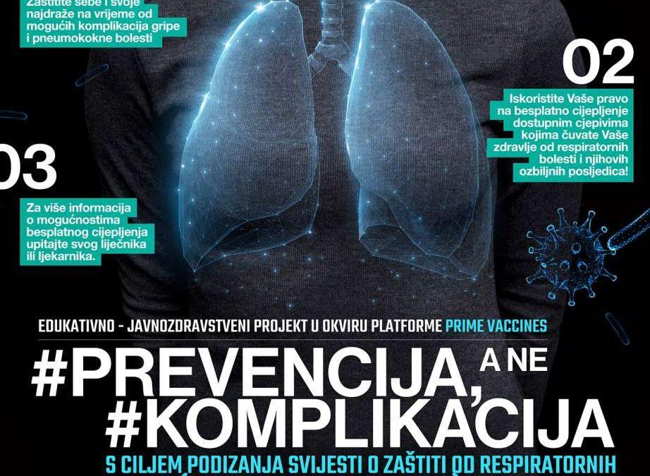 """Snimka webinara """"Imunizacija u zaštiti rizičnih skupina bolesnika u sezoni respiratornih bolesti – Prevencija, a ne komplikacija"""""""