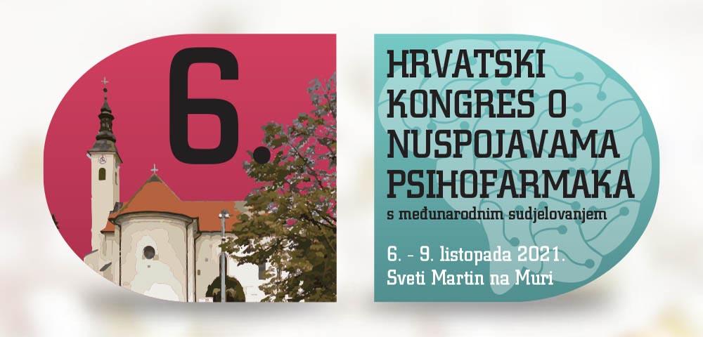 6. hrvatski kongres o nuspojavama psihofarmaka s međunarodnim sudjelovanjem, 6 – 9. listopada 2021.