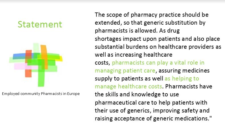 EPhEU: Kompetencije ljekarnika za obavljanje generičke supstitucije